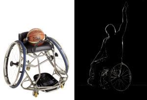 Djamel Hamache - Basketteur et son fauteuil